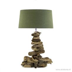 Grote tafellamp drijfhout excl. kap
