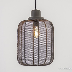 Industriële hanglamp Anjali betonlook