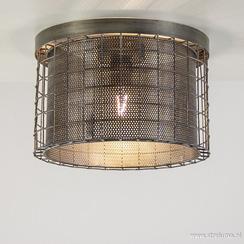 Industriële plafondlamp Digo antiek zink
