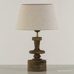 Tafellamp-lampvoet hout met brons (zonder kap)