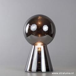 Moderne tafellamp pion glas antraciet