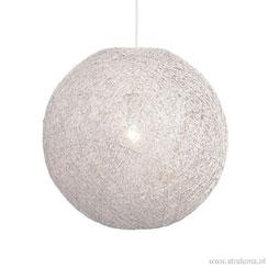 06131960 | Hanglamp Abaca bol wit 45cm