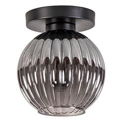06131990 | Smoke glas plafondlamp met zwart