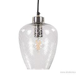 12210892 | Moderne hanglamp Gisela nikkel met glas