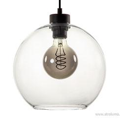 12480194 | Glazen hanglamp helder rond