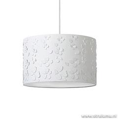 12700072 | Bloemen hanglamp wit kinder-tienerkamer