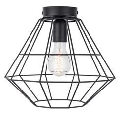 20100022 | draad plafondlamp zwart hal wc keuken