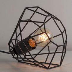 20100082 | kleine zwarte tafellamp draad