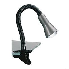20210097 | Klemlamp bureau/tafel zwart zilvergrijs