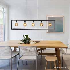 12480034 - grote eettafel hanglamp zwart balk