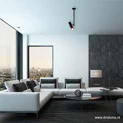 12480171 - moderne plafondspot zwart verstelbaar