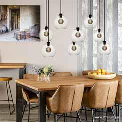 12480185 - grote 8-lichts hanglamp met helder glas