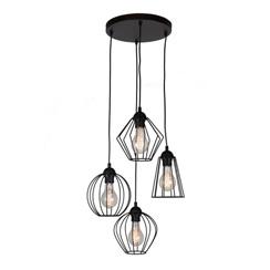 20100040 - draad-hanglamp-zwart-hoogte-verschillend