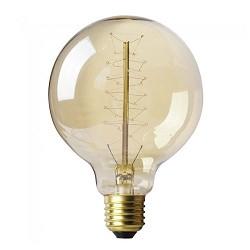 Vintage lichtbron bol spiraal 60W