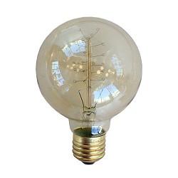 Vintage lichtbron bol spiraal 40W