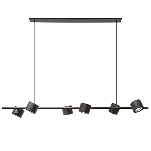 Luxe 6-lichts hanglamp spots zwart inclusief LED