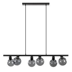 6-lichts hanglamp zwart exclusief lichtbronnen