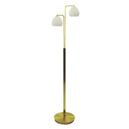 Klassiek LED Vloerlamp messing woonk.