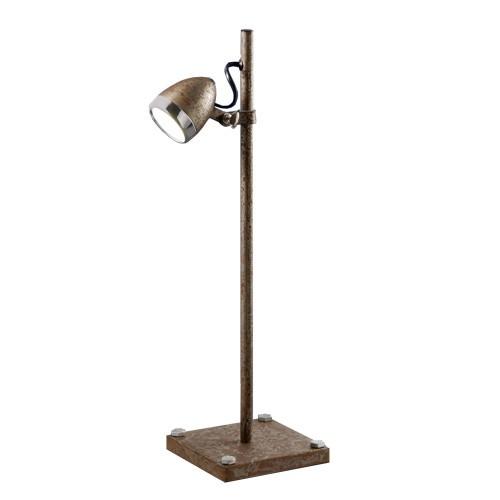 Trendy tafellamp LED metaal/roest