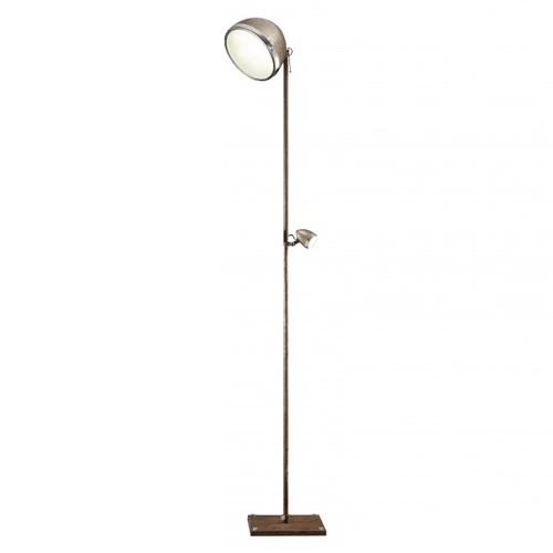 **Trendy vloerlamp chroom/roest LED