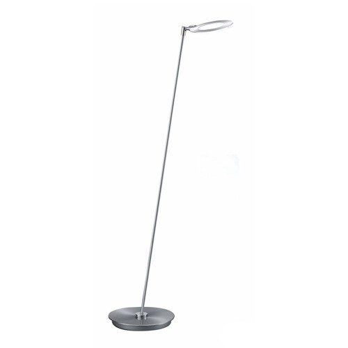 **Moderne vloerlamp LED staal, dimbaar
