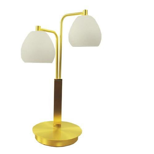*Klassieke tafellamp messing LED
