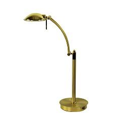 Klassieke messing tafel leeslamp dimbaar