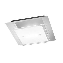 **Moderne plafondlamp LED chroom en glas