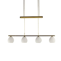 **Hanglamp LED messing verstelbaar tafel