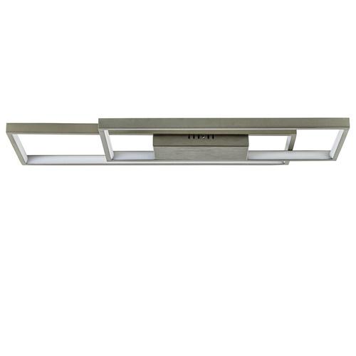 *Plafondlamp nikkel dubbel rechthoek 3-step dim