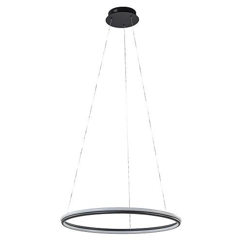 Zwarte hanglamp ring 60 cm met geïntegreerd LED