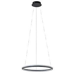 Design hanglamp ring zwart met LED