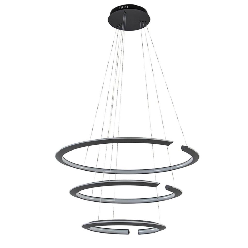 LED hanglamp ringen mat zwart