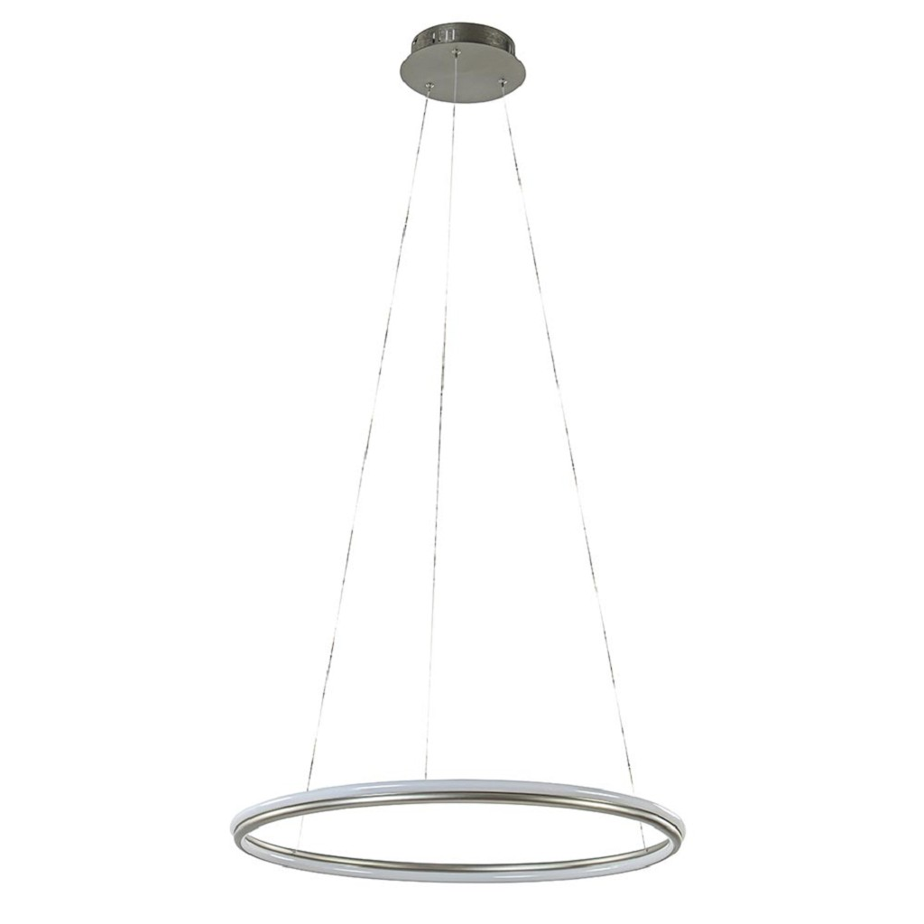Ronde hanglamp nikkel inclusief LED