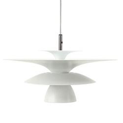 Vintage hanglamp design wit schotel