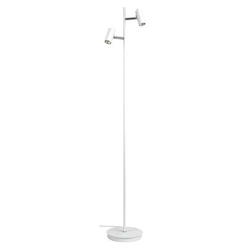 Moderne vloerlamp wit verstelbare spots