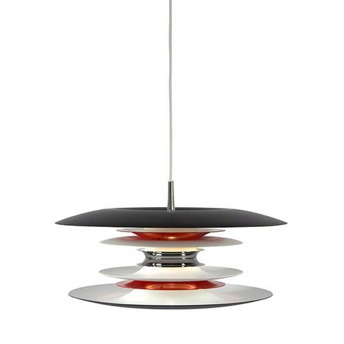 prachtige unieke hanglamp roodwitzwa straluma