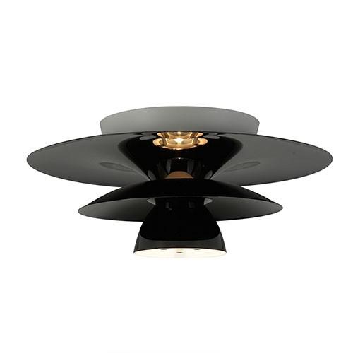 design plafondlamp zwart woon slaapka straluma
