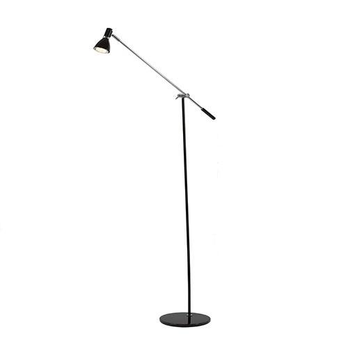 *Leeslamp staand  LED verstelbaar zwart