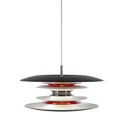 *Prachtige unieke hanglamp rood/wit/zwa