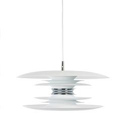*Hanglamp design wit, chroom eettafel