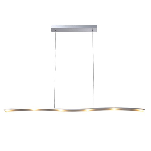 Hanglamp design led aluminium eettafel