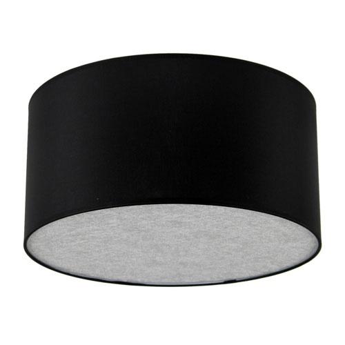 Plafondlamp lampenkap rond zwart-zilver