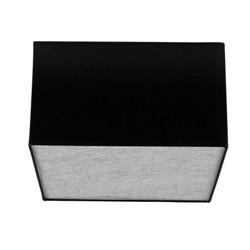 Plafond lampenkap vierkant zwart zilv