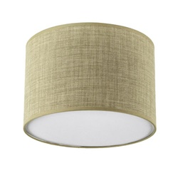 Plafondlamp lampenkap zand rond 45 cm