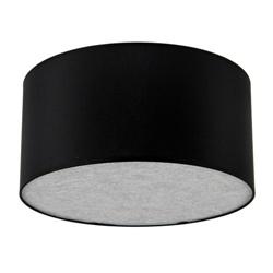 Plafondlamp lampenkap zwart rond zilver