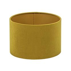 Cilinder kap fluweel oker geel met goud 25 cm
