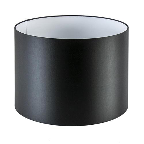 Lampenkap cilinder zwart met witte binnenzijde