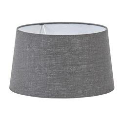 Lampenkap grijs warm omgeslagen 35 cm