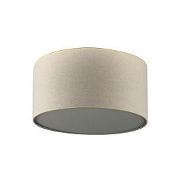 Plafondlamp lampenkap creme rond gang
